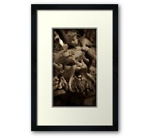 Italian fountain of merman's face Framed Print