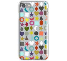 geo garland silver iPhone Case/Skin