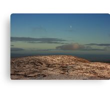 Moon Over Brown's Hill Canvas Print