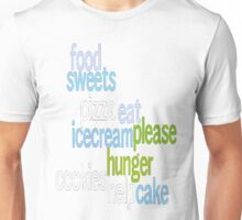 I Love Food - Color Unisex T-Shirt