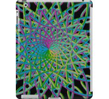 colorful spiral on black background iPad Case/Skin