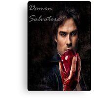 Damon Salvatore Canvas Print