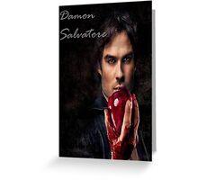 Damon Salvatore Greeting Card