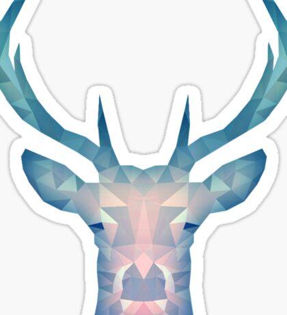 Blue Deer Sticker