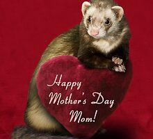 Mother's Day Mom Ferret by jkartlife