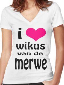 i heart WIKUS VAN DE MERWE Women's Fitted V-Neck T-Shirt