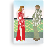 Emma Stone & Ryan Gosling from Gangster Squad Typography Design of Their Conversation Metal Print