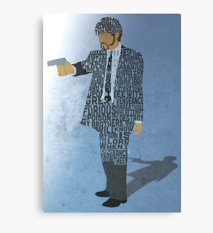 Jules from Pulp Fiction Typography Quote Design Canvas Print