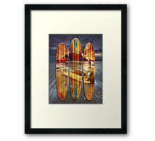 Mauao Wave Riders Framed Print