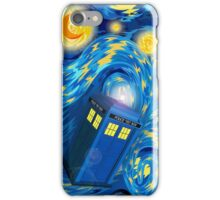 Blue Phone box tardis Starry the night iPhone Case/Skin