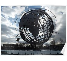 Classic Globe, Flushing Meadow Park, Queens, New York  Poster