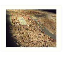New York City Panorama, Scale Model of New York City, Queens Museum, Queens, New York  Art Print