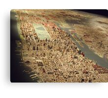 New York City Panorama, Scale Model of New York City, Queens Museum, Queens, New York  Canvas Print
