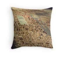 New York City Panorama, Scale Model of New York City, Queens Museum, Queens, New York  Throw Pillow