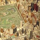 Central Park South, New York City Panorama, Scale Model of New York City, Queens Museum, Queens, New York  by lenspiro
