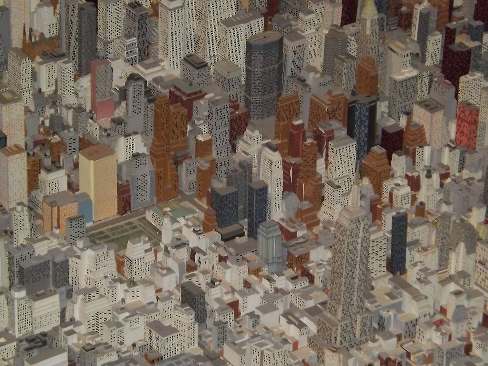Empire State Building,  New York City Panorama, Scale Model of New York City, Queens Museum, Queens, New York  by lenspiro