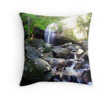 Serenity Falls - Buderim Forest Park Throw Pillow
