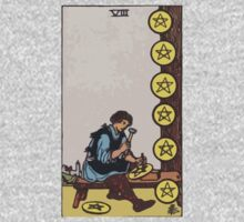 Tarot- Eight of Pentacles by cadellin