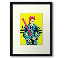 There's a Starman Framed Print
