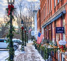 Litchfield Storefronts in Winter by Timothy Borkowski
