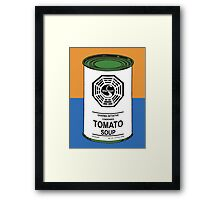 Dharma Tomato Soup Can Framed Print