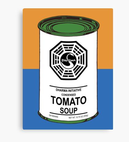 Dharma Tomato Soup Can Canvas Print