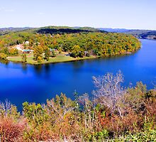 Table Rock Lake, Branson, Missouri. by NatureGreeting Cards ©ccwri