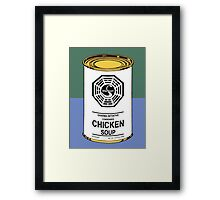 Dharma Noodle Soup Can Framed Print
