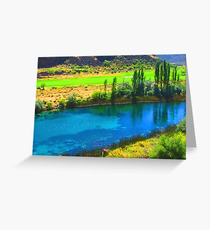 """Canyon Blue Lake"" by Carter L. Shepard Greeting Card"