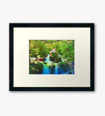 """Canyon Falls"" by Carter L. Shepard Framed Print"