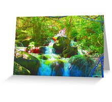 """Canyon Falls"" by Carter L. Shepard Greeting Card"