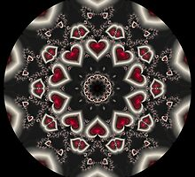 Heart Blast Kaleidoscope by fantasytripp