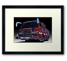 Pierce Fire Engine Rescue Framed Print