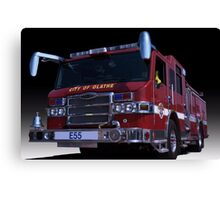 Pierce Fire Engine Rescue Canvas Print