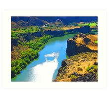 """Snake River Canyon"" by Carter L. Shepard Art Print"