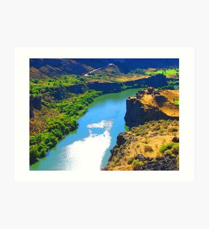 """""""Snake River Canyon"""" by Carter L. Shepard Art Print"""