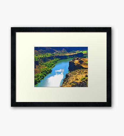 """Snake River Canyon"" by Carter L. Shepard Framed Print"