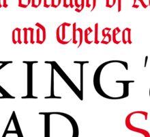 King's Road, Street Sign, London, UK Sticker