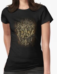 The 7 Sins Skull Womens Fitted T-Shirt