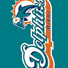 NFL The Miami Dolphins Logo Poster by NFLFanMerch