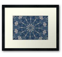 Digital Blue Framed Print
