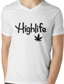 Highlife Shirt (Dark) Mens V-Neck T-Shirt