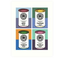 Dharma Initiative Soup Cans Art Print