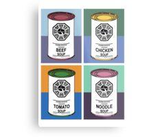 Dharma Initiative Soup Cans Metal Print