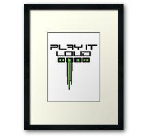 Play It Loud Music Logo Framed Print