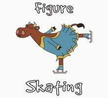 Figure Skating Cow by uddertees