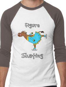Figure Skating Cow Men's Baseball ¾ T-Shirt