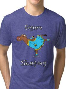 Figure Skating Cow Tri-blend T-Shirt