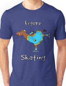 Figure Skating Cow Unisex T-Shirt