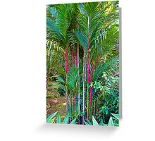 Red Bamboo V  Greeting Card